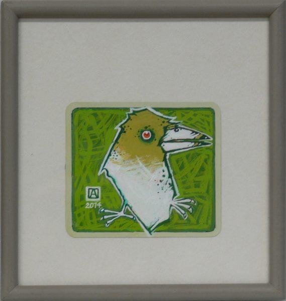 ALFRED ASZKIEŁOWICZ – Ptak na zielonym tle