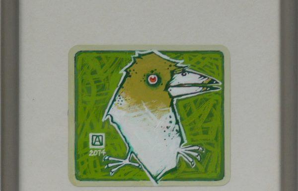 ASZKIEŁOWICZ ALFRED – Ptak na zielonym tle